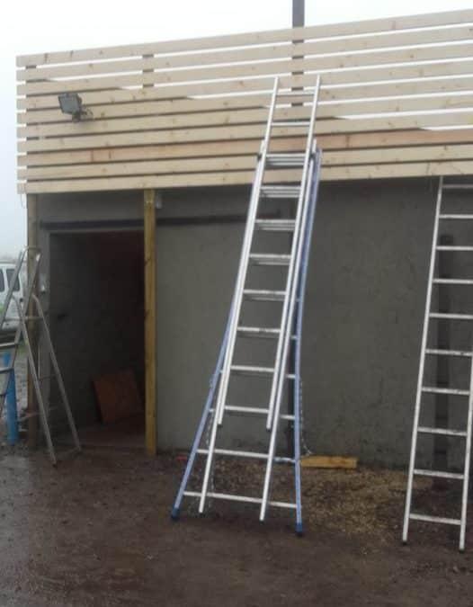 bardage bois,amélioration d'une façade de bâti